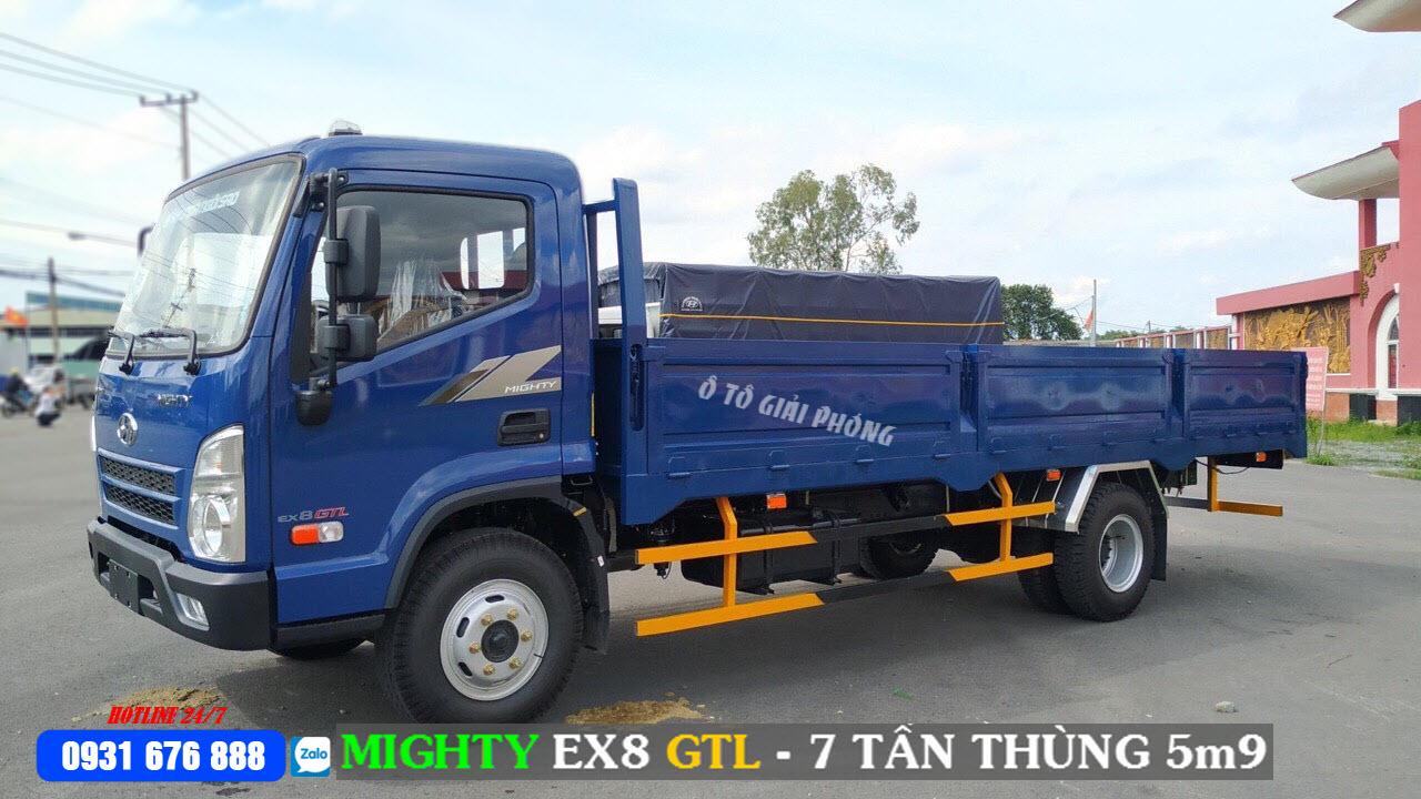 hyundai mighty ex8 glt thùng lửng