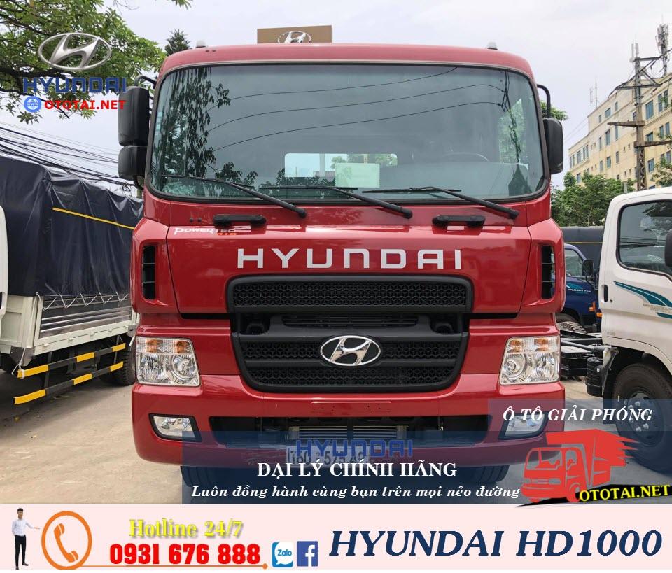 xe đầu kéo hyundai hd1000 màu đỏ