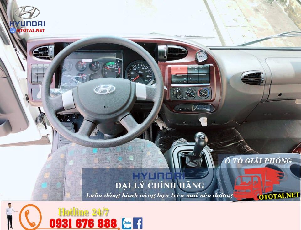 nội thất xe tải hyundai hd240 3 chân co