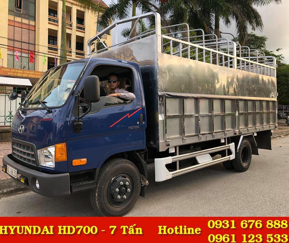 xe tải hyundai hd700 đồng vàng