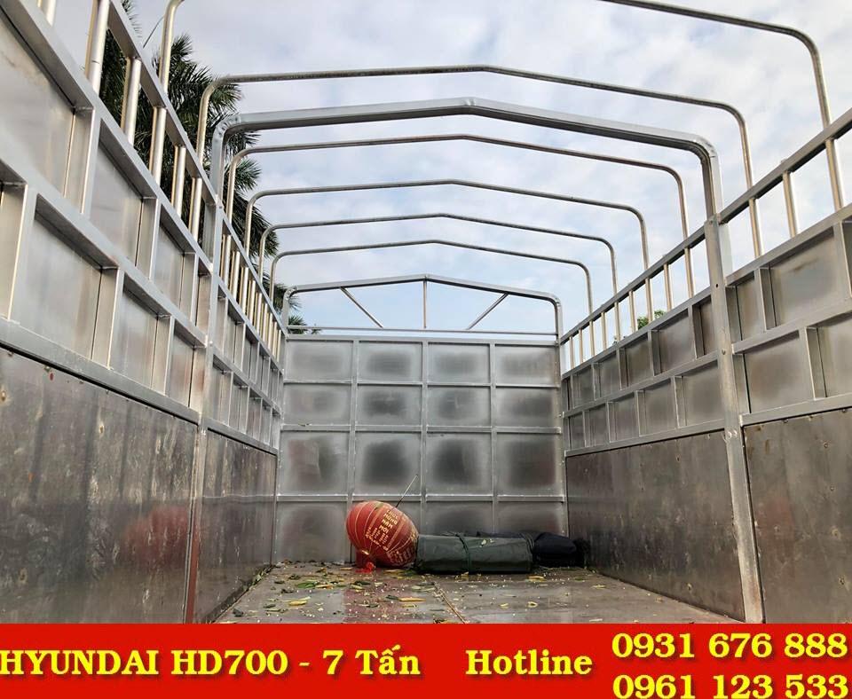 thùng xe tải hyundai hd700 đồng vàng