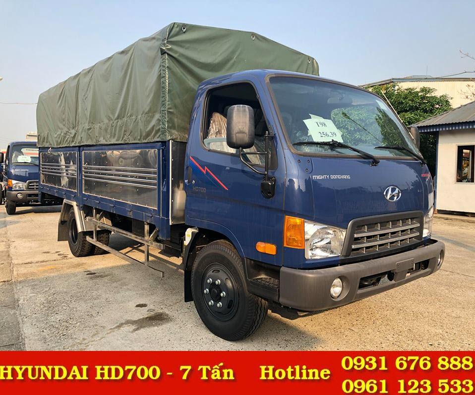 xe tải hd700 đồng vàng