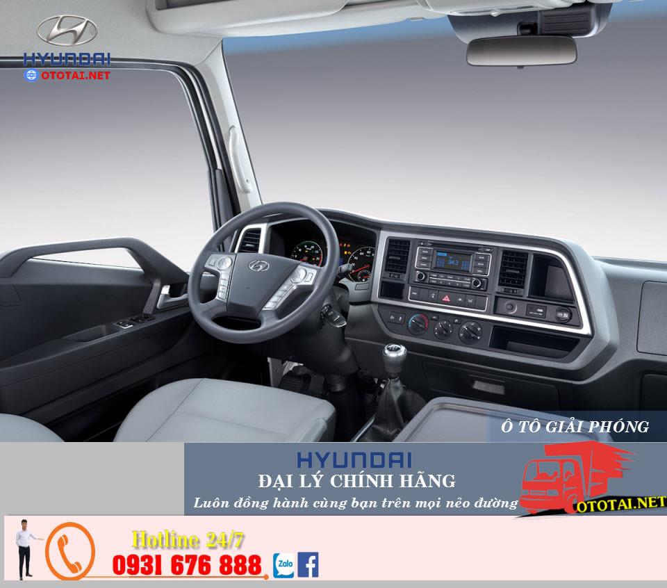 nội thất xe tải Hyundai mighty ex8