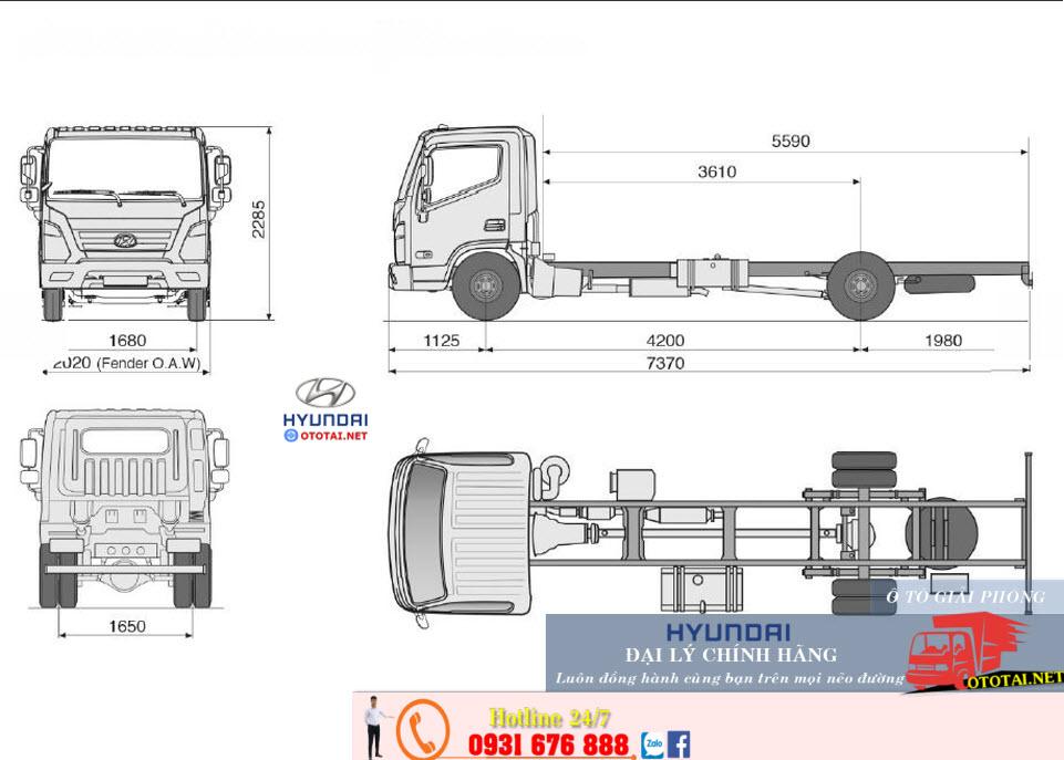 thông số kỹ thuật xe tải mighty ex8