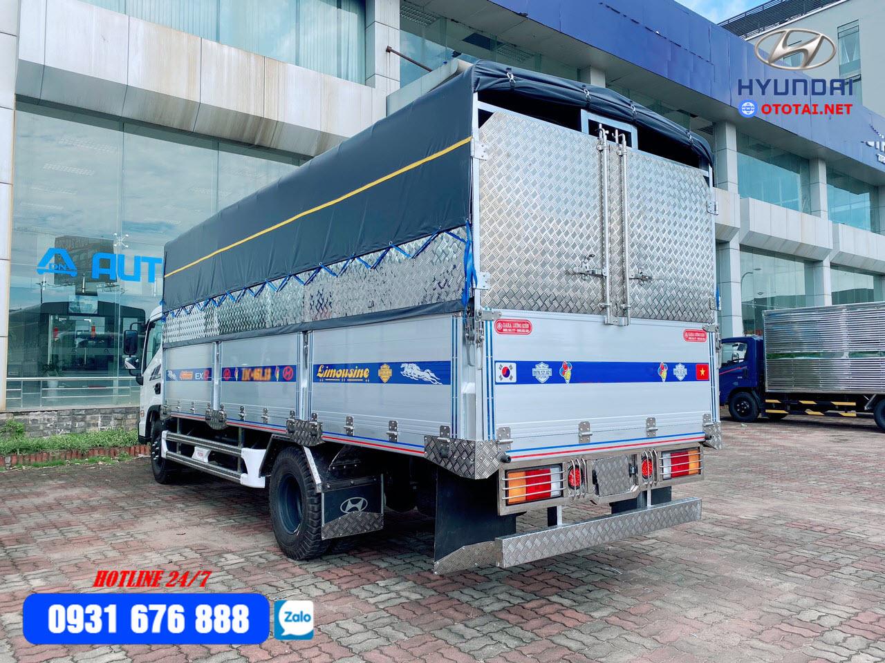 xe tải hyundai ex8 thùng nhôm