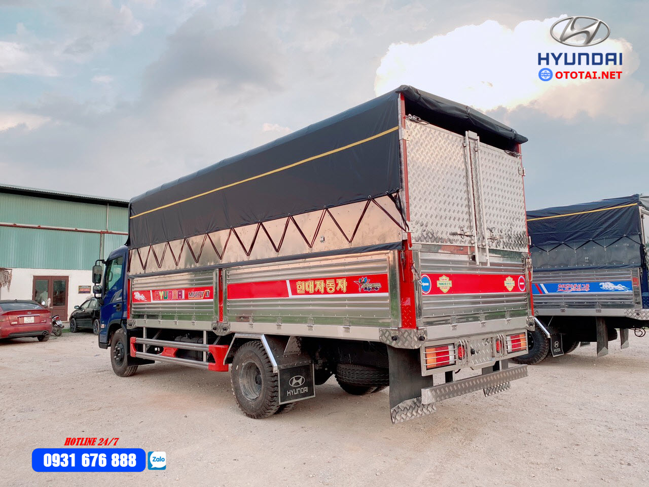 xe tải hyundai ex8 thung inox