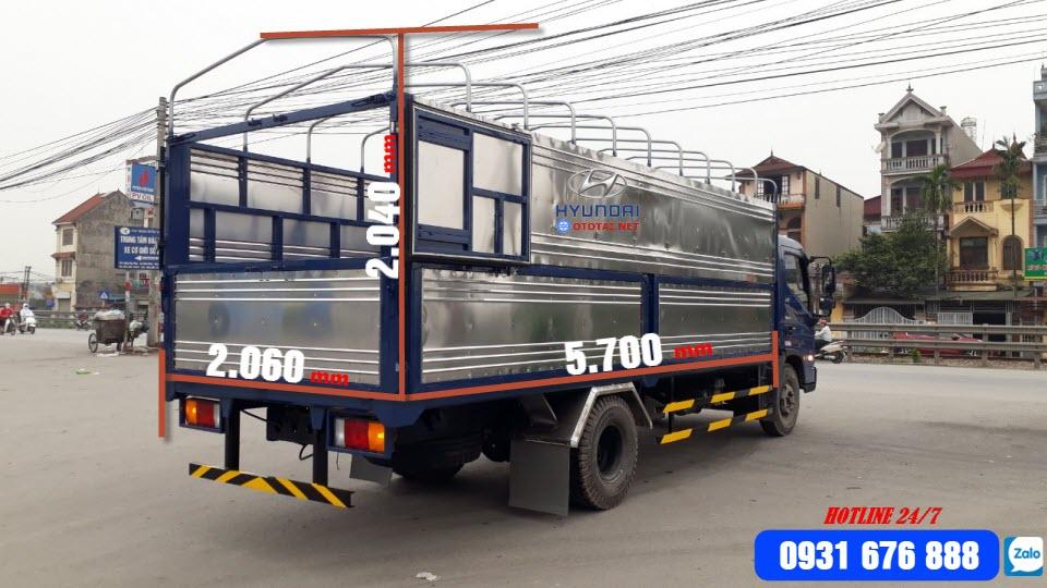 thông số kỹ thuật xe tải hyundai mighty ex8