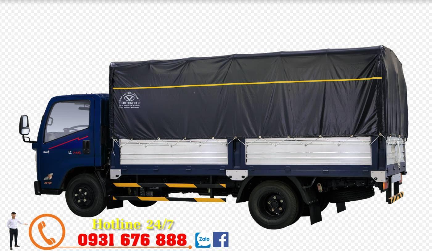 xe tải đô thành iz75s thùng mui bạt