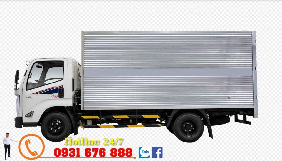 xe tải iz75s đô thành thùng kín