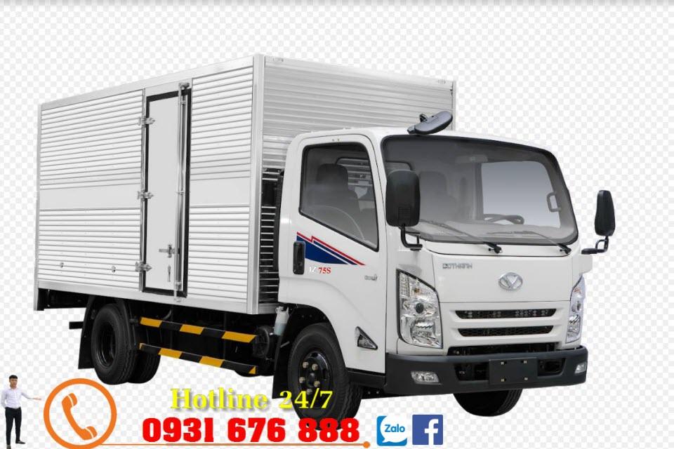 xe tải đô thành iz75s thùng kín