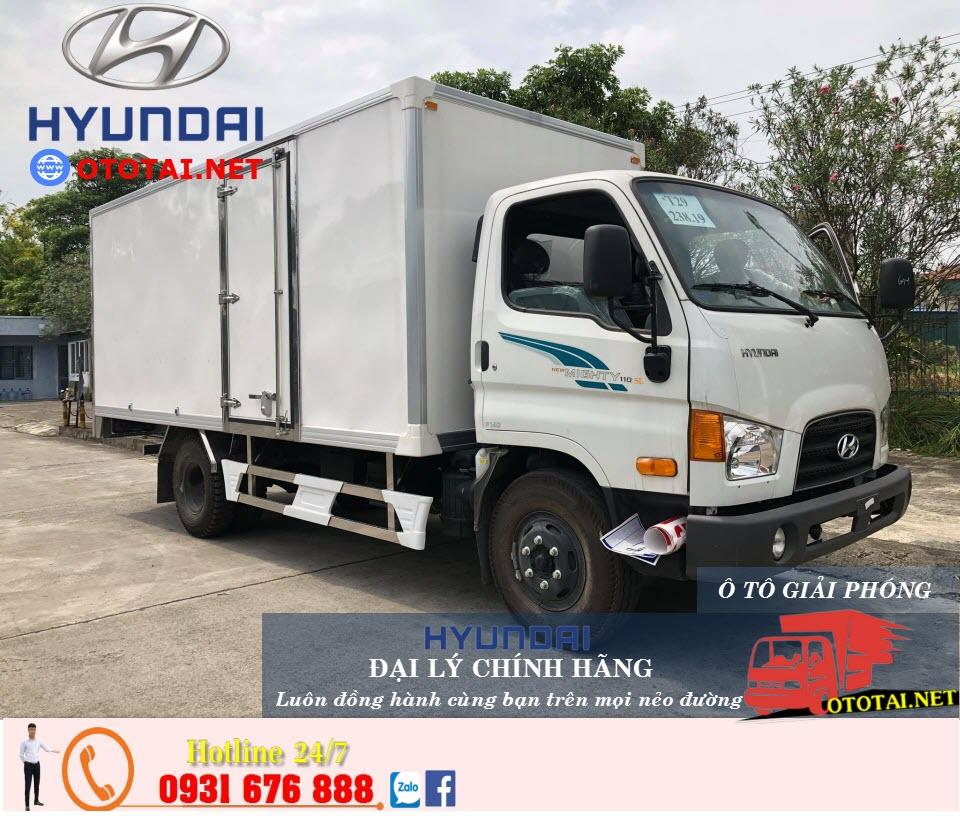 xe tải mighty 110sl thùng panel
