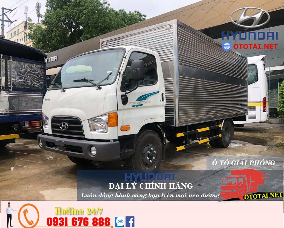 xe tải mighty 110sl thùng kín inox