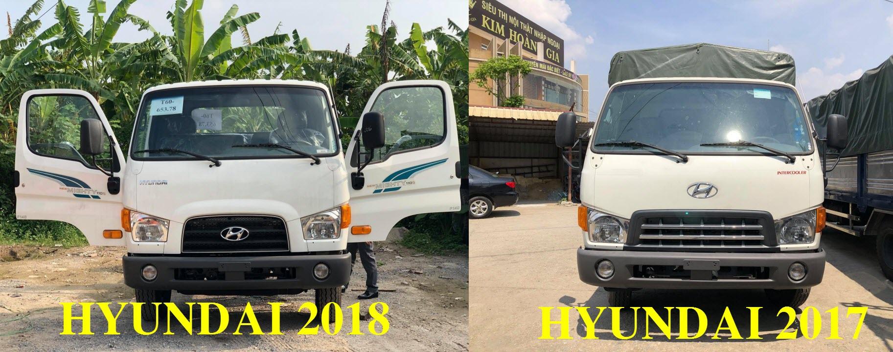 xe tải hyundai 110s khác gì với phiên bản trước