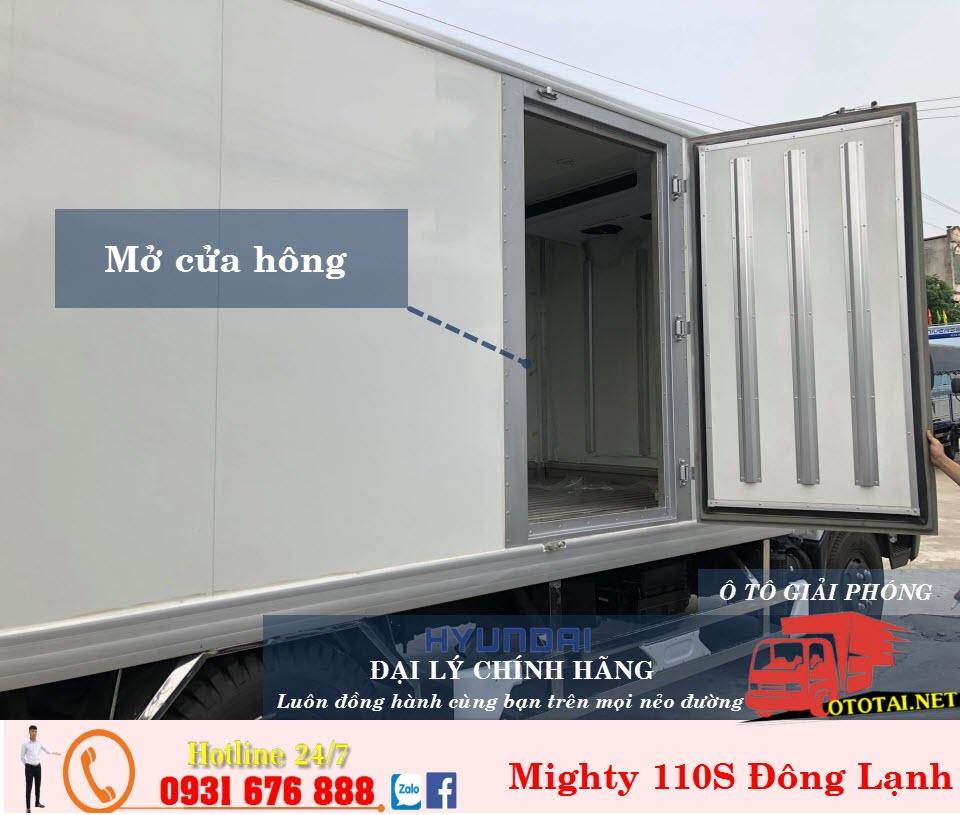 thùng đông lạnh xe tải hyundai mighty 110s 7 tấn thành công