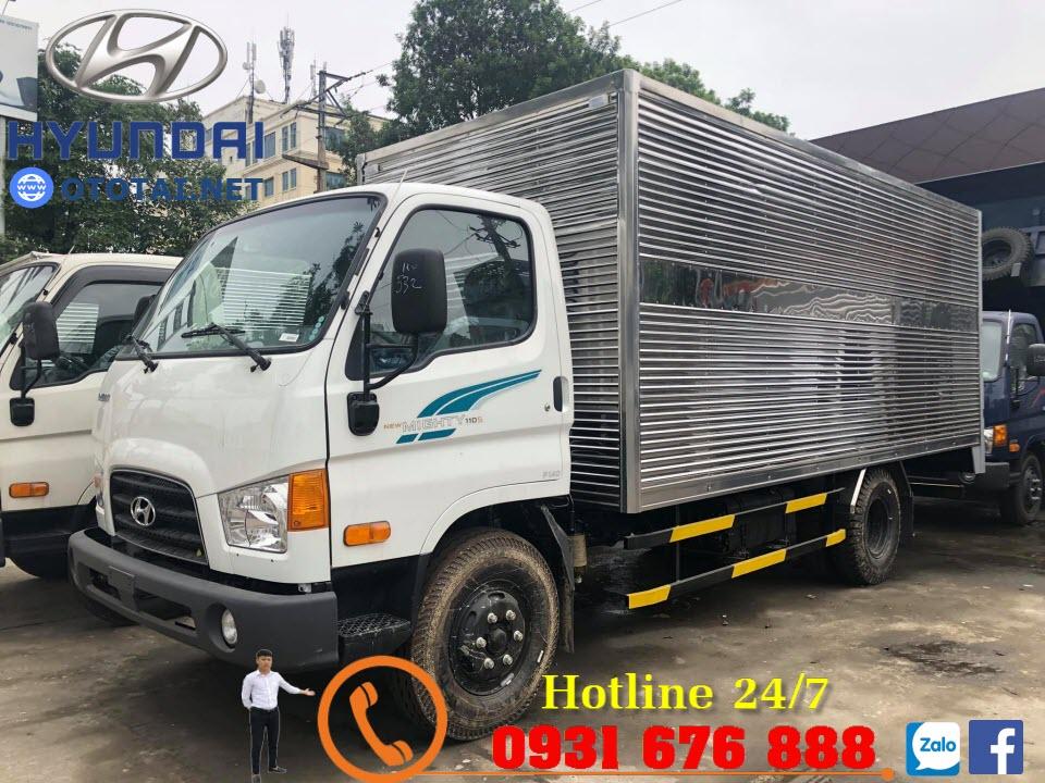 xe tải 110s thùng kín inox