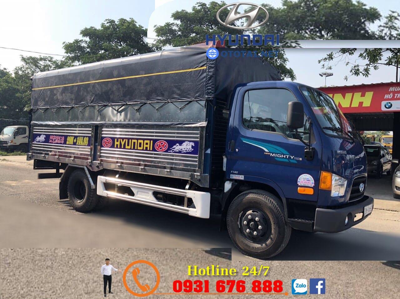 xe hyundai mighty 110s đóng thùng inox