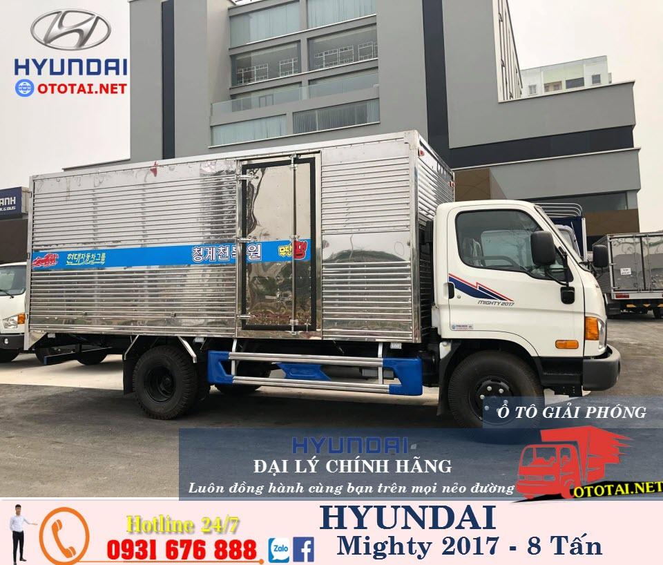 xe tải hyundai 8 tấn máy cơ thùng kín