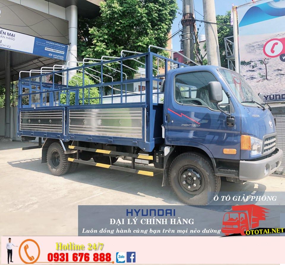 xe tải hyundai mighty 2017 thùng mui bạt
