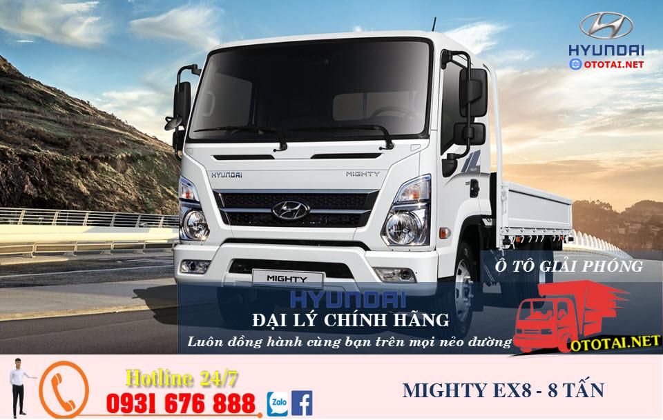 xe tải hyundai mighty ex8 8 tấn thành công