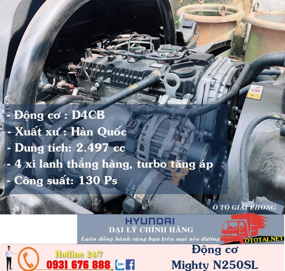 động cơ xe tải hyundai n250SL thành công