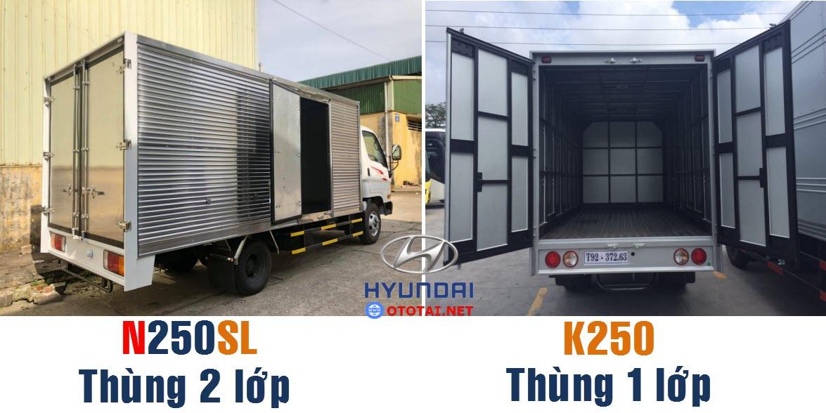 so sánh xe mighty N250sl với k250
