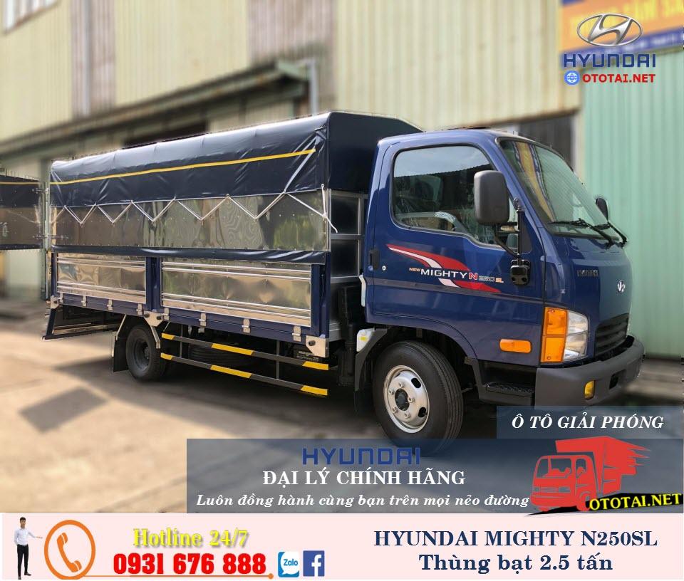 xe tải mighty n250sl thùng mui bạt