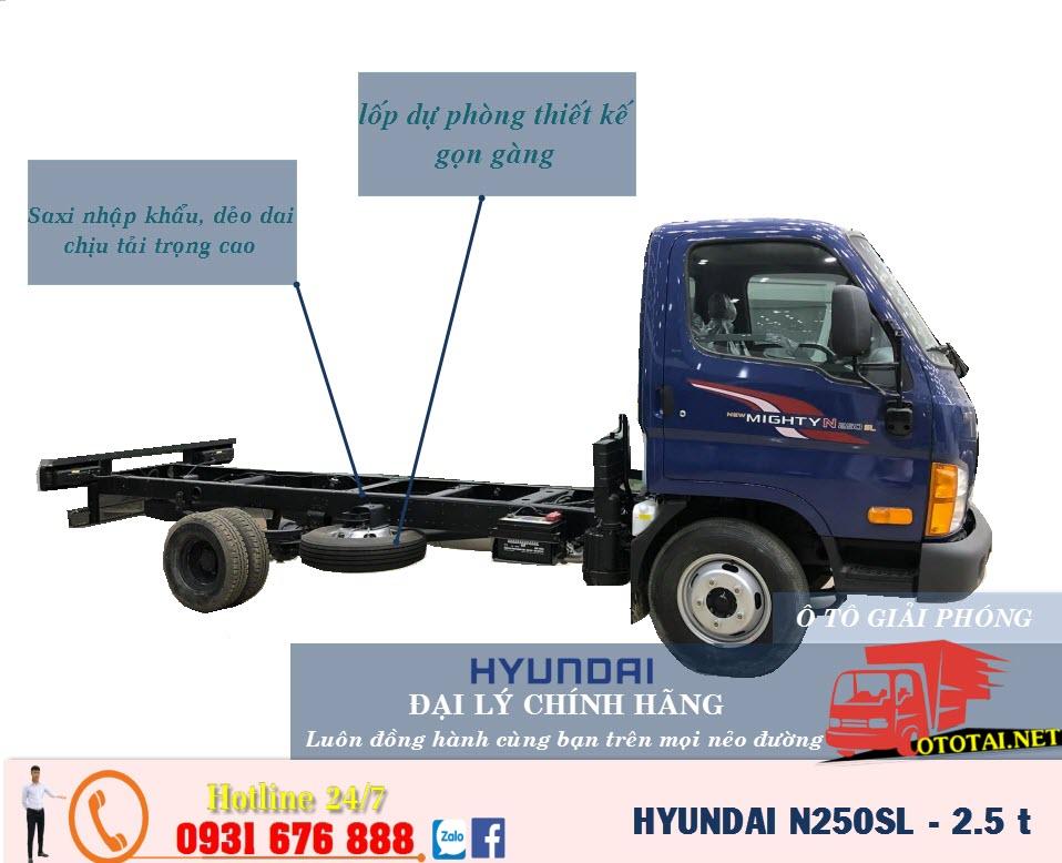 sát xi xe tải hyundai mighti n250sl