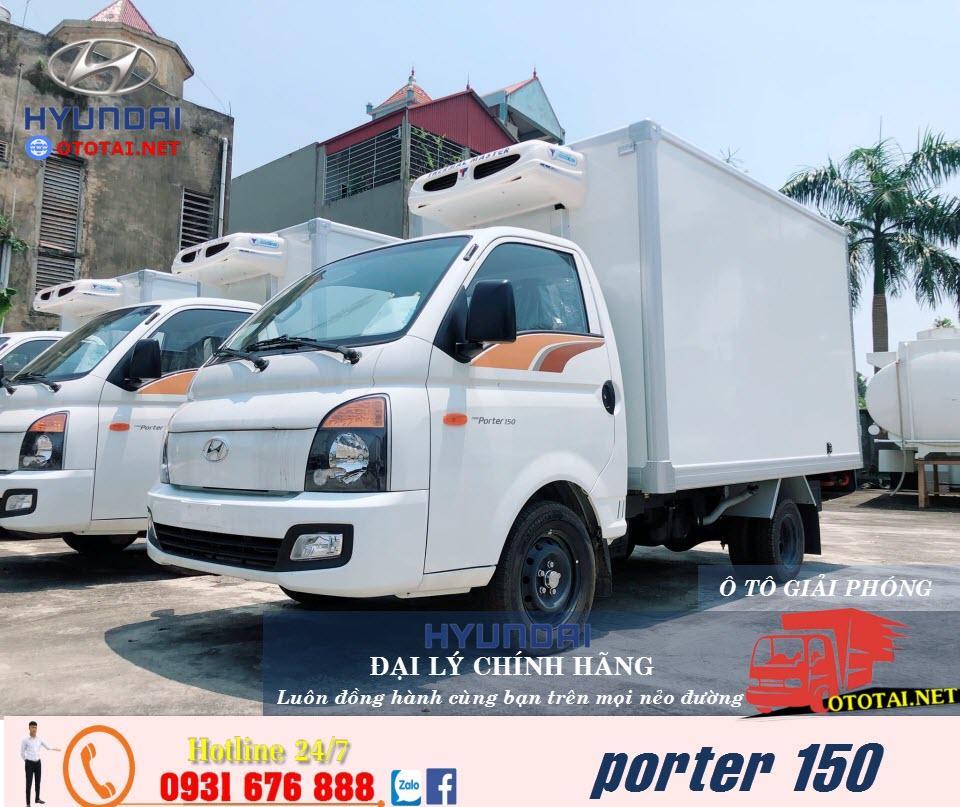 xe tải hyundai porter 150 đông lạnh