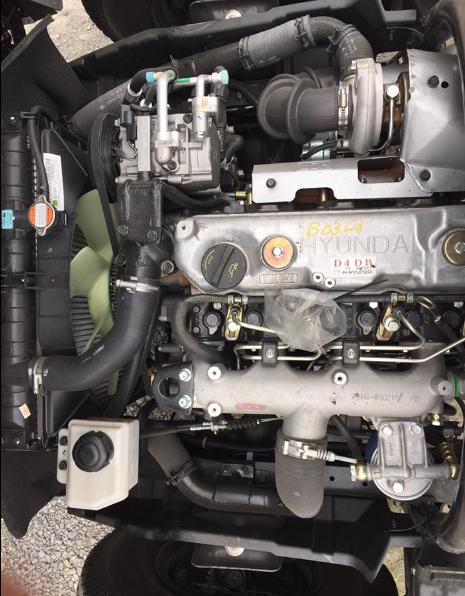 động cơ xe nâng tải 8,5 tấn hyundai hd120s