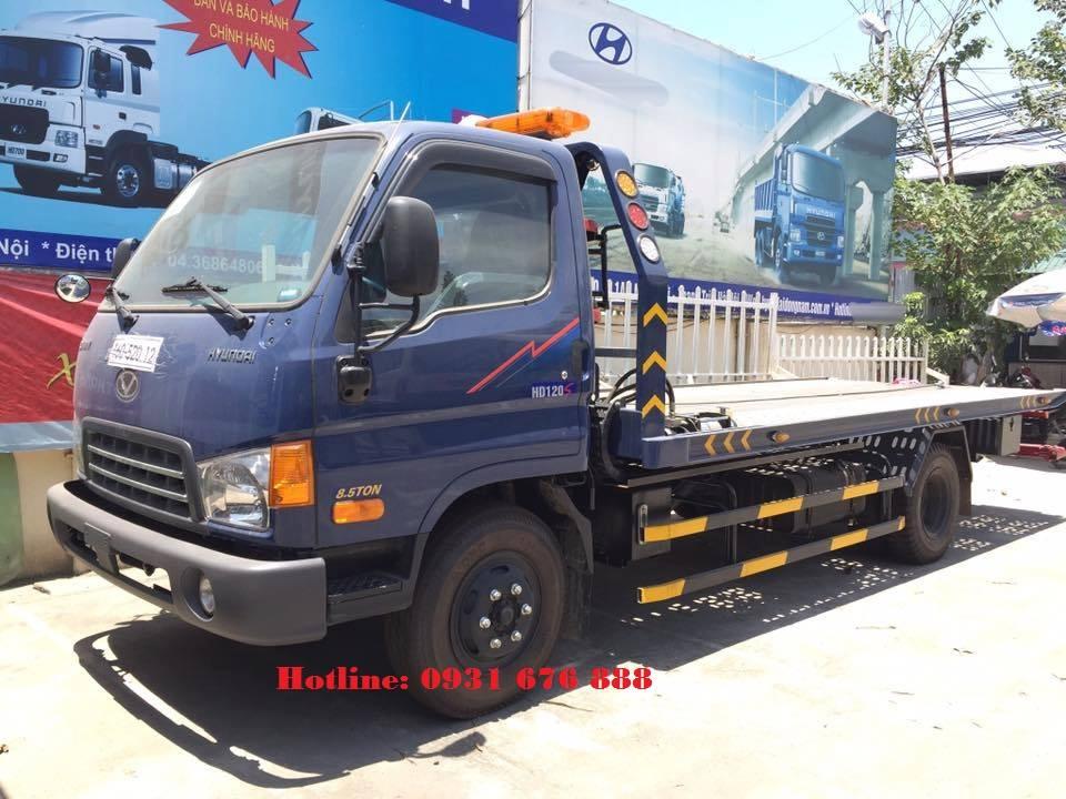 xe tải cứu hộ giao thông sàn trượt hyundai hd120s 8.5 tấn