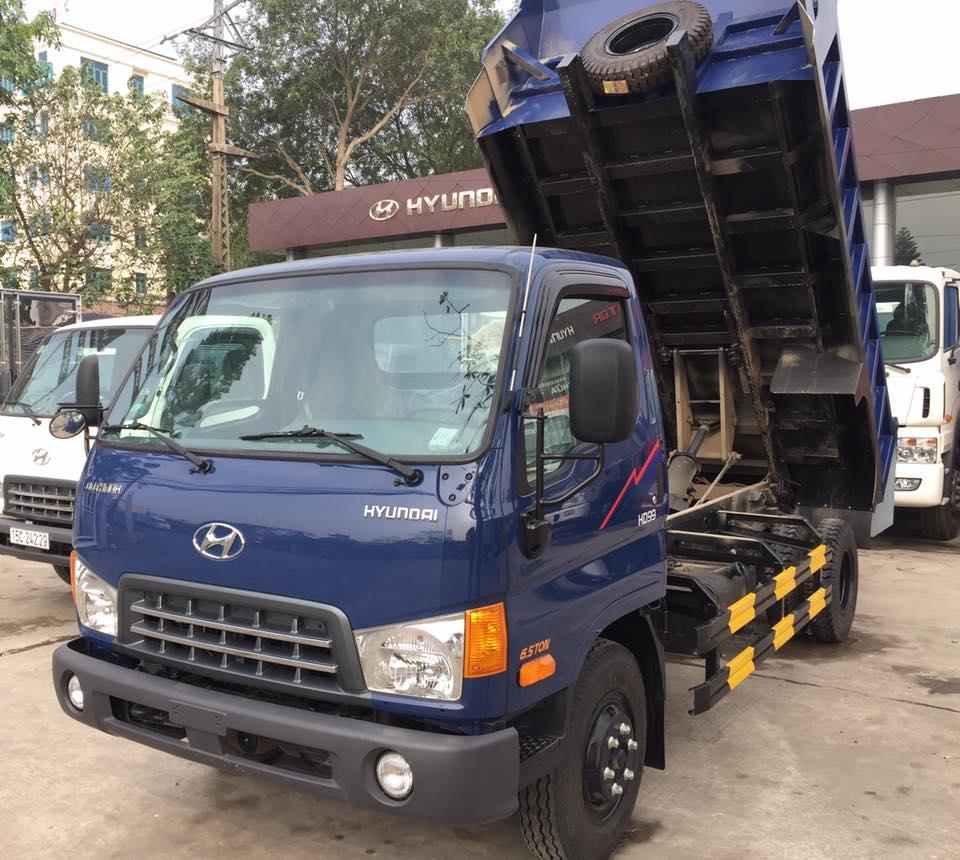 xe tải ben 6 tấn 5 khối hyundai hd99 d60